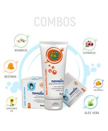 Novalou Protective Diaper Rash Cream & Night Cold Relief Cream Combo Set - 200 gm, 100 ml