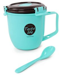 Taste Life Print Baby Cup With Spoon - Aqua
