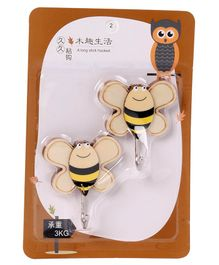 Honey Bee Shape Hooks - Coffee And Brown