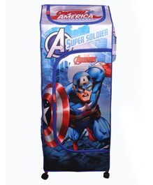 Avengers Storage Unit With Wheels Captain America Print - Blue