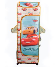 Kudos Disney Pixar Car Print 5 Shelved Almirah - Pink Blue