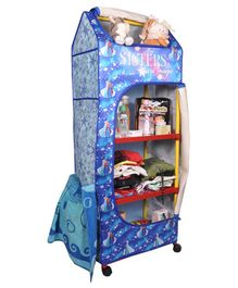 Kudos Disney 5 Shelves Storage Wardrobe - Blue