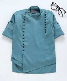 Dapper Dudes Solid Full Sleeves Kurta - Green