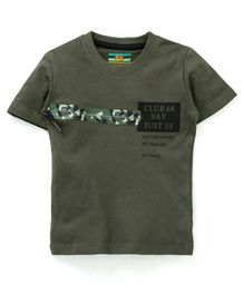 Forever Kids Printed Half Sleeves T-Shirt - Green