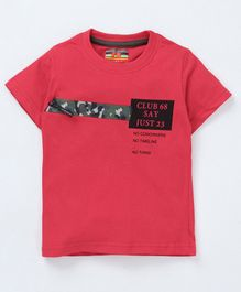 Forever Kids Printed Half Sleeves T-Shirt - Pink