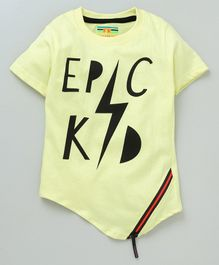 Forever Kids Epic Kid Print Half Sleeves T-Shirt - Yellow