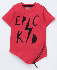 Forever Kids Epic Kid Print Half Sleeves T-Shirt - Pink
