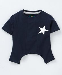 Forever Kids Star Print Half Sleeves T-Shirt - Blue