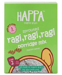 Happa Mighty Grain Sprouted Ragi & Cardamom Porridge Mix - 200 gm