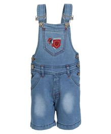 FirstClap FJ Patch Sleeveless Denim Dungaree - Light Blue