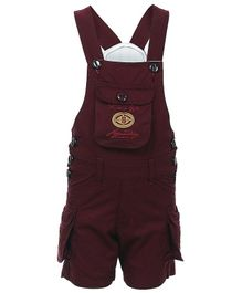 FirstClap Embroidered Sleeveless Dungaree - Maroon