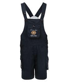 FirstClap Embroidered Sleeveless Dungaree - Navy Blue