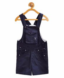 FirstClap Solid Sleeveless Dungaree - Navy Blue