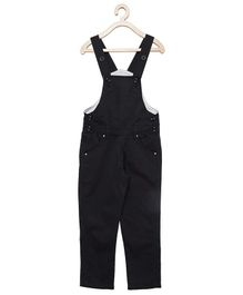FirstClap Solid Sleeveless Dungaree - Black