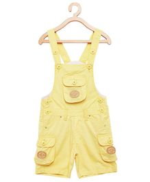 FirstClap S Patch Sleeveless Dungaree - Yellow