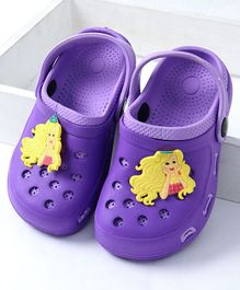 Barbie Clogs With Back Strap Character Patch - Purple
