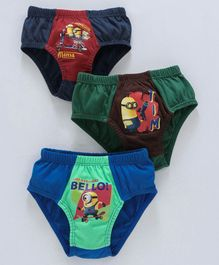 Red Rose Briefs Minions Print Pack Of 3 - Multicolour