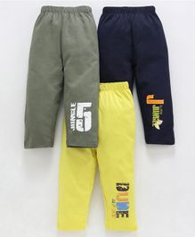 Ohms Full Length Lounge Pants Pack of 3 - Blue Yellow Olive