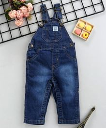 ToffyHouse Sleeveless Denim Dungaree - Dark Blue