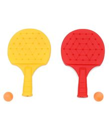 Nippon Table Tennis Racket Set - Red Yellow