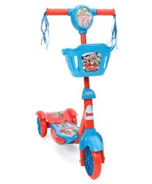 Marvel Avengers 3 Wheel Scooter with Flashing Light - Blue Red