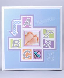 Photo Album Alphabet Print - Sky Blue