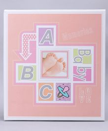 Photo Album Alphabet Print - Pink