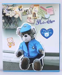 Baby Photo Album Bear Print - Blue