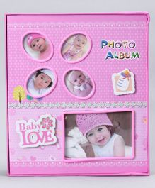 Baby Photo Album Love Print - Pink