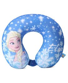 Disney Frozen U Shaped Neck Pillow - Blue
