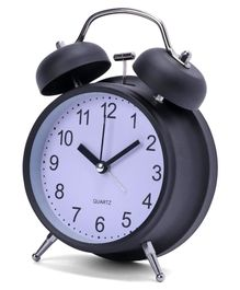 Round Shape Alarm Clock - Black