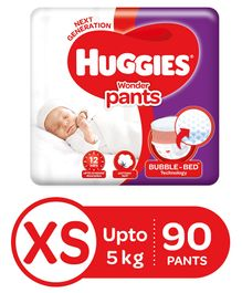 Huggies Wonder Pants Extra Small Size Pant Style Diapers - 90 Pieces