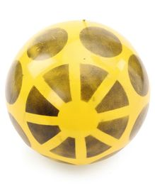 Printed PVC Soft Ball - Yellow (Print May Vary)