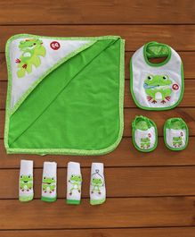 Fisher Price Baby Gift Set of 7 Froggy Print - Green