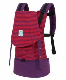 Kol Kol Baby Carrier With Hood - Red Purple