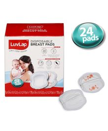 LuvLap Disposable Breast Pads - 24 Pieces