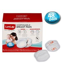 LuvLap Disposable Breast Pads - 48 Pieces