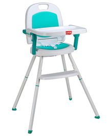 LuvLap Cosmos 3 in 1 High Chair - Green & White