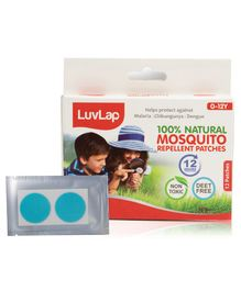 LuvLap Natural Mosquito Repellent Patches - 12 Patches