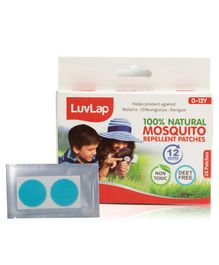 LuvLap Natural Mosquito Repellent Patches - 24 Patches