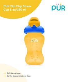 Pur Flip Flap Straw Cup Yellow - 250 ml
