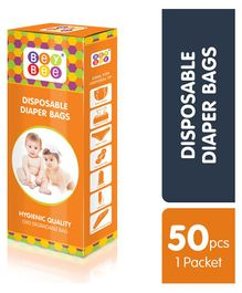 Bey Bee Baby Diaper Disposable Bags - Pack Of 50 Bags