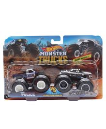 Hot Wheels Demolition Doubles Monster Police Truck - Black (Colors and designs may vary)