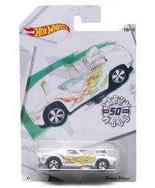 Hot Wheels Rodger Dodger - White Yellow