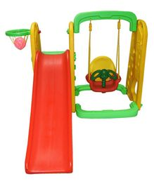 Playgro Super Giraffe Slide Swing & Basket Ball Loop Combo Multicolor  (Color May Vary)