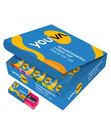 Youva Long Tip Sharpeners Multicolor - Pack of 30