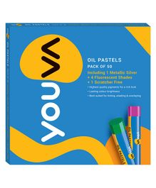 Youva Oil Pastels Multicolour - Pack of 50