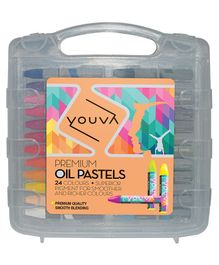 Youva Oil Pastels Multicolour - Pack of 24