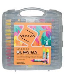 Youva Oil Pastels Multicolour - Pack of 60