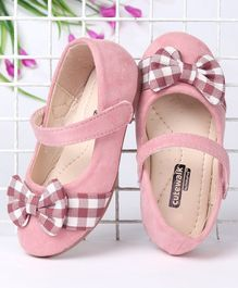 Cute Walk by Babyhug Solid Bellies With Checked Bow Motif - Pink